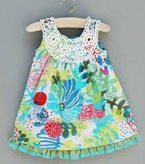 Making Stuff: Patchwork Dress with Crochet Yoke {fat quarter project} Crochet Yoke, Crochet Girls, Crochet For Kids, Crochet Baby, Crochet Clothes, Diy Clothes, Toddler Outfits, Kids Outfits, Crochet Magazine
