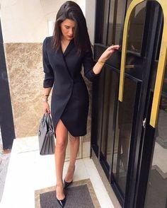 Tendencias: Los vestidos-blazer siguen siendo muy actuales esta temporada otoño-invierno 2017-2018  Street Style inspira...