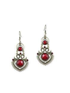 red brass drop earring - Online Shopping for Earrings