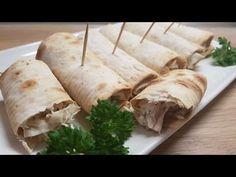 Курица в лаваше! Супер закусочные трубочки!!! - YouTube Tacos, Turkey, Mexican, Meat, Ethnic Recipes, Youtube, Food, Turkey Country, Essen