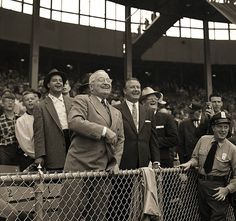 Harry S. Truman  1955  Harry Truman throws out the ceremonial first pitch on opening day of the 1955 baseball season.