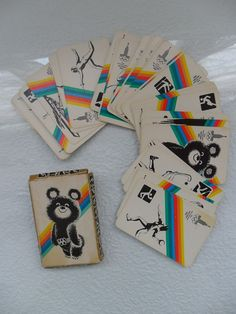 Lot of 31 Olympics Games Sport Cards in Box Mishka Bear Collectibles Moscow 1980