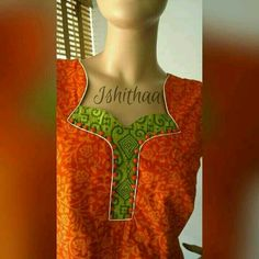 30 Stylish Potli button neck designs for kurtis and salwar suits Chudithar Neck Designs, Chudidhar Designs, Neck Designs For Suits, Neckline Designs, Designs For Dresses, Blouse Neck Designs, Salwar Neck Patterns, Salwar Pattern, Salwar Neck Designs