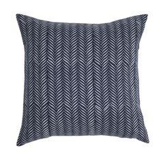"<p>20""x20"" block print cotton pillow zipper opening solid back,down insert</p><p>All sales final.</p>"