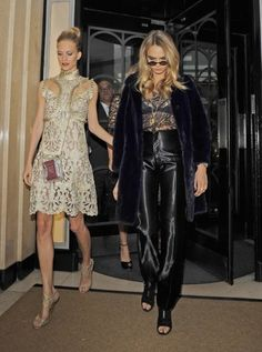 Poppy and Cara Delevingne.