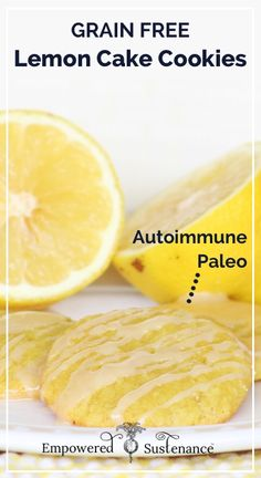 Paleo Lemon Cake Cookies (gluten free, dairy free, egg free)