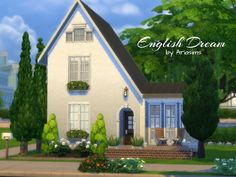 English Dream house by Ariasims at TSR via Sims 4 Updates