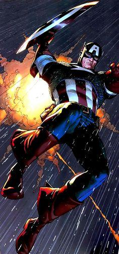 Captain America by Steve McNiven #compartirvideos #imagenesdivertidas #videowatsapp