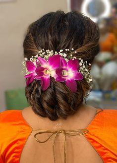 Bridal Hair Buns, Bridal Hairdo, Hairdo Wedding, Wedding Hair Pieces, Indian Bun Hairstyles, Bun Hairstyles For Long Hair, Bride Hairstyles, Elegant Hairstyles, Twist Hairstyles