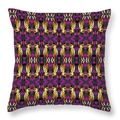 """72 Grasshoppers Throw Pillow by Expressionistart studio Priscilla Batzell.  Our throw pillows are made from 100% spun polyester poplin fabric and add a stylish statement to any room.  Pillows are available in sizes from 14"""" x 14"""" up to 26"""" x 26"""".  Each pillow is printed on both sides (same image) and includes a concealed zipper and removable insert (if selected) for easy cleaning."""