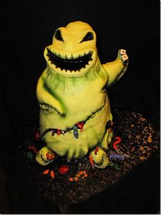 The Amazing Edible Oogie Boogie. I wish I were talented enough to make a cake like this.