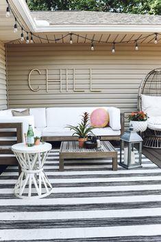 Outdoor Deck Decorating, Patio Decorating Ideas On A Budget, Porch Decorating, House Ideas On A Budget, Home Decor Ideas, Diy Home Decor Bedroom, Outdoor Decor, Diy On A Budget, Decor Crafts