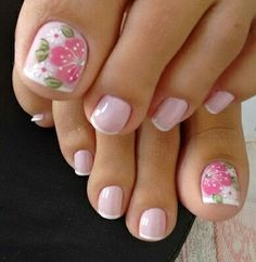 68 Ideas for pedicure nail art designs toenails pink Bridal Nails Designs, Pedicure Designs, Pedicure Nail Art, Toe Nail Designs, Toe Nail Art, Bridal Toe Nails, Manicure, Pretty Toe Nails, Cute Toe Nails