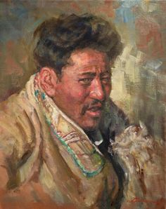 "A beautiful portrait by NOAPS Master Artist Member Cheng Lian from Texas. ""Laba"" 20x16 oil painting. Cheng will be conducting two portrait workshops this year. Check our NOAPS website for details. http://www.noaps.org/html/workshops.html"
