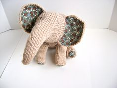 A personal favorite from my Etsy shop https://www.etsy.com/listing/86648175/knitting-pattern-for-precious-pachyderm