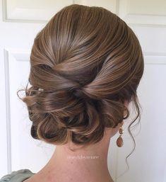 Formal Sleek Low Looped Updo #'weddinghairdos'