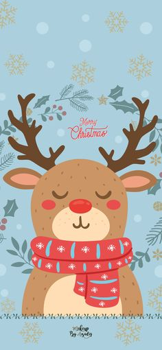 Christmas Wallpapers fond-decran-wallpaper-noel-renne-rudolph-disney-iphone-X-makeupbyazadig-tendance Christmas Phone Wallpaper, Xmas Wallpaper, Winter Wallpaper, Wallpaper Iphone Disney, Illustration Noel, Christmas Illustration, Disney Christmas, Christmas Art, Reindeer Christmas