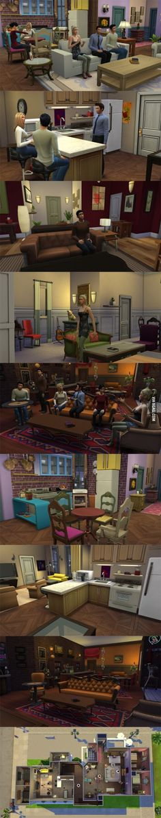 'Friends' recreated for 'The Sims 4'