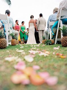 599664bd3481 line the ceremony aisle with pineapples for your tropical destination  weddings!   Maui Wedding from