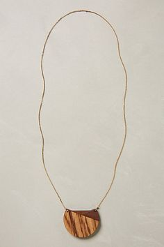Treble Wood Necklace - anthropologie.com