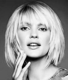Bob Haircuts With Bangs 2015 - 2016 Love this shattered bob.Love this shattered bob. Bob Hairstyles With Bangs, Bob Haircut With Bangs, Short Hair With Bangs, Short Hairstyles For Women, Layered Bob With Bangs, Choppy Bob With Fringe, Medium Bob With Bangs, Blonde Bob With Bangs, Black Hairstyles