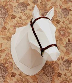 Folded paper horse head.  https://www.behance.net/gallery/13356575/My-horse-hopes