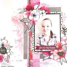 Created with July's Uniquely Creative kits featuring the Magenta collection by Kaisercraft. Scrapbook Journal, Baby Scrapbook, Scrapbook Albums, Scrapbooking Layouts, Paper Art, Paper Crafts, Smash Book Pages, General Crafts, Page Design
