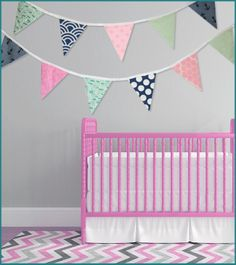 This Colorful Nautical Themed Bunting Banner Is The Perfect Addition To Your Baby S Nursery