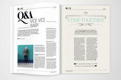 Mise en page design du journal Artworks.