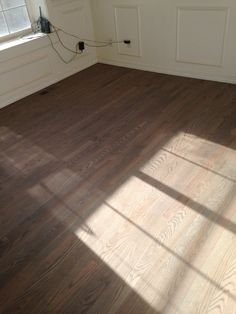 Just stained this oak floor a dark grey