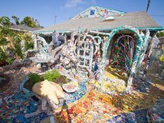 "The ""Mosaic Tile House"" has become a Los Angeles attraction in its own right as people come to gawk at the colorful hand-laid tiles. You can stay here for about $500 per night."