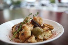 Cauliflower with olives and dates