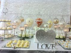 "Bling ""love"" candy table"