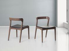 Stuhl Braun - Esszimmerstuhl - Holzstuhl - Küchenstuhl - Lederstuhl - ASTORIA ✓ Kauf auf Rechnung mit 365 Tage Rückgaberecht