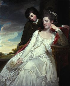 George Romney    Jane Maxwell, Duchess of Gordon, c 1749 - 1812. Wife of the 4th Duke of Gordon (With her son, George Duncan, 1770 - 1836. 1778