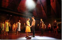 """Zoe Nadal and Will Skrip star as Maria and Tony in Paramount Theatre's """"West Side Story"""" by Leonard Bernstein and Stephen Sondheim, directed by Jim Corti. (photo credit: Liz Lauren)"""