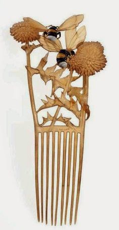 Hair Jewelry Time for some more hair comb history! One of the best designers of the Art Nouveau, Lucien Gaillard created not only amazing je. Bijoux Art Nouveau, Art Nouveau Jewelry, Antique Jewelry, Vintage Jewelry, Vintage Hair Combs, Bee Art, Bees Knees, Hair Ornaments, Hair Jewelry