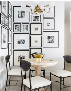 elegant gallery wall #minimaldesign #artwall