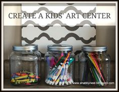 Love it! Organized in jars!