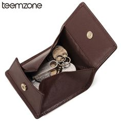 Dress Genuine Leather Solid Hasp Men Coin Purses Fashion Coin Holder colletion Storage Cowhide Leather Coin Wallet K856J50