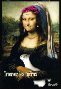 Brus© Mona Lisa, Walls, Paper, Artwork, Work Of Art, Auguste Rodin Artwork, Artworks, Illustrators