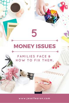 The 5 Money Issues Americans Face & Their Solutions - Jessi Fearon - Finance tips, saving money, budgeting planner Ways To Save Money, Money Tips, Money Saving Tips, How To Make Money, Money Budget, Money Hacks, Living On A Budget, Frugal Living Tips, Frugal Family