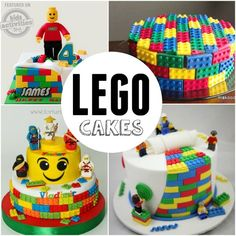 Have a Lego lover at your house? They will go crazy for these awesome Lego cakes.