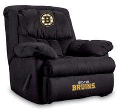 Boston Bruins Home Team Microfiber Recliner