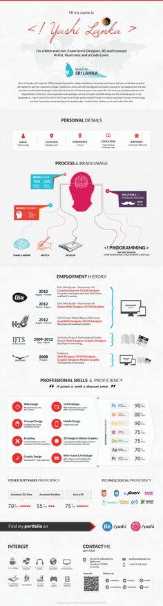 Inforgraphic Resume by Yashi , via Behance