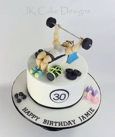 Gym themed birthday cake