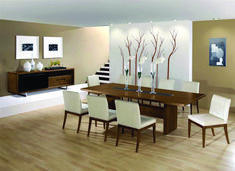 Cool 17 Beautiful Modern Dining Room Design Ideas To Inspire You Designing a modern dining room certainly cannot easily be done by you, because it also involves the dining room furniture itself that you are not care. Farmhouse Dining Room Table, Dining Room Table Decor, Dining Room Sets, Dining Room Design, Dining Room Furniture, Dining Chair, Modern Furniture, Dining Area, Furniture Ideas