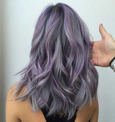 Prismetallic hair color by guy tang ash purple hair, purple hair highlights, silver highlights Lavender Hair Colors, Lavender Ideas, Silver Lavender Hair, Coloured Hair, Colored Hair Tips, Dye My Hair, Hair Looks, Hair Inspiration, Cool Hairstyles