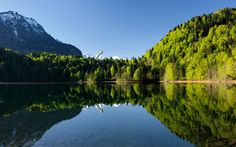 Download wallpapers Freiberg Lake, 4k, summer, mountains, german landmarks, forest, Europe, Oberstdorf, Germany