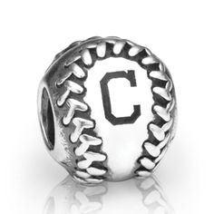 PANDORA Cleveland Indians baseball charm in sterling silver. <br><br> Style # USB790969-G008